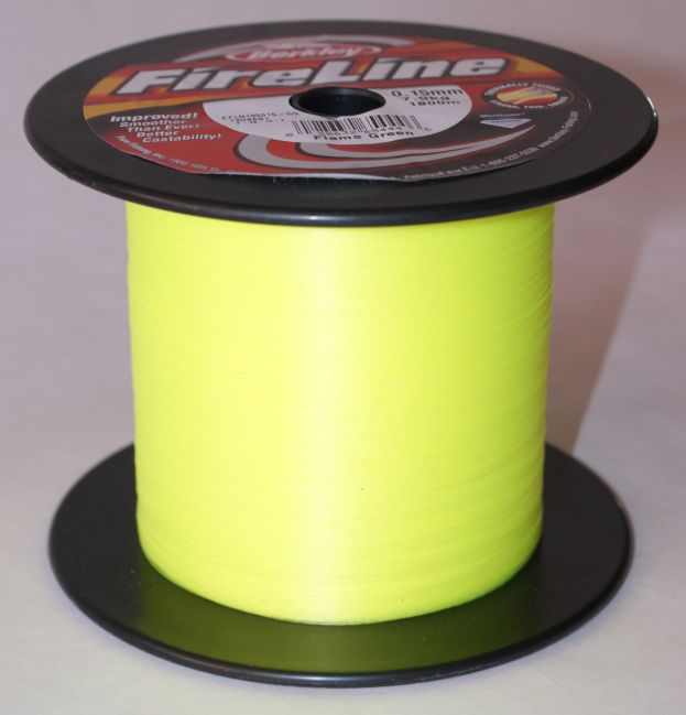 Šňůra Berkley Fire line Flame green 0,12 mm 6,80 kg metráž