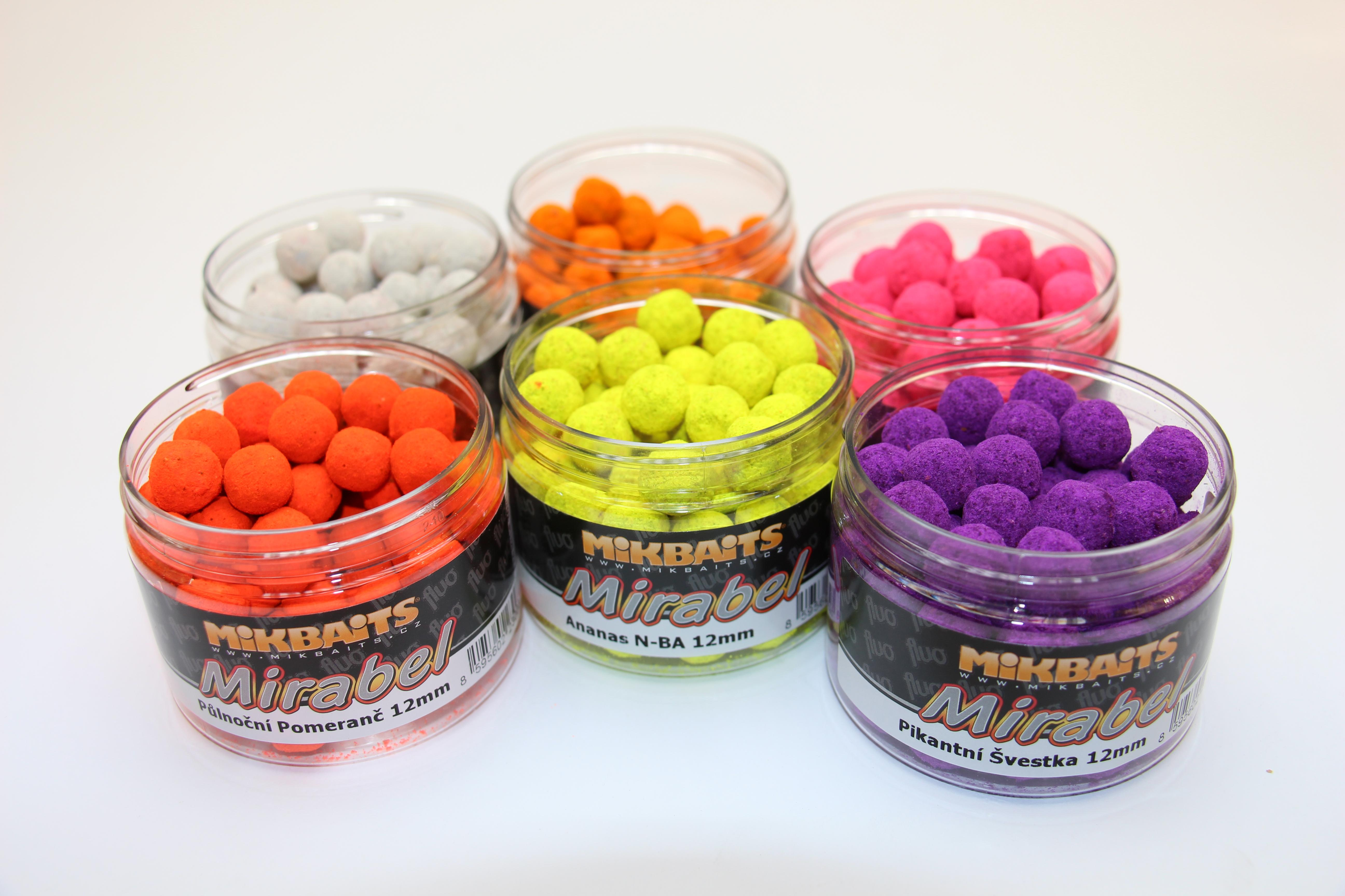 Boilie Mikbaits Mirabel fluo 150 ml 12 mm