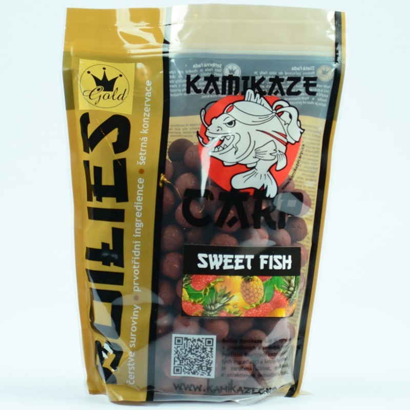 Boilie Kamikaze carp Sweet fish 1 kg 20 mm