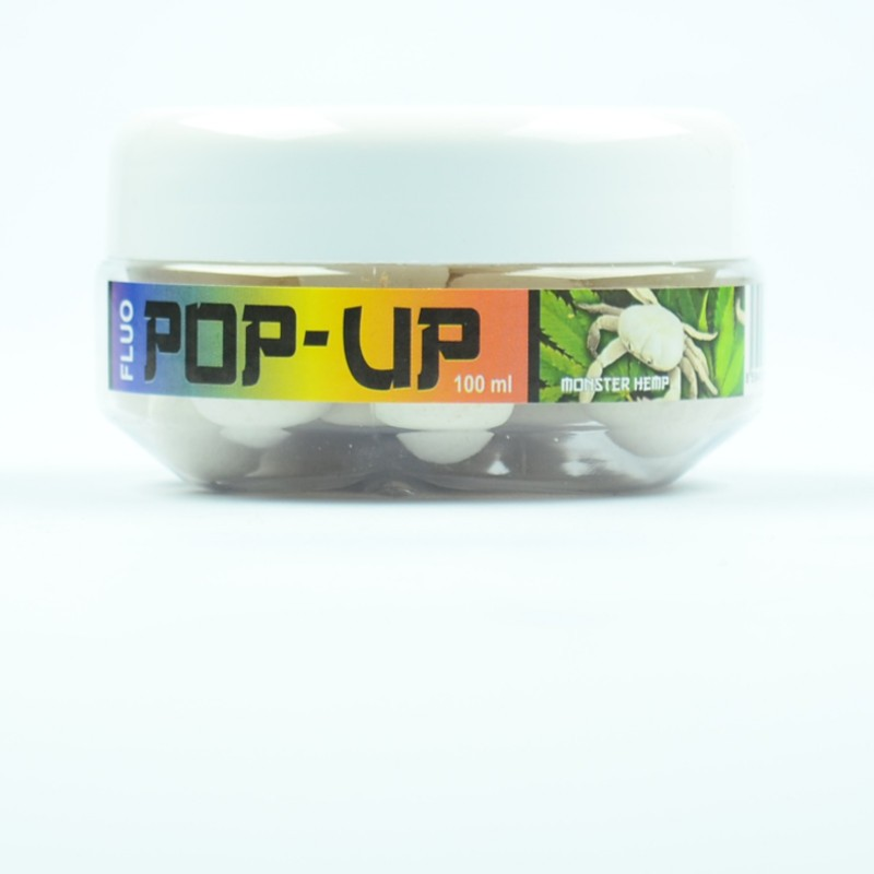 Plovoucí boilie Kamikaze carp monster hemp fluo 100 ml