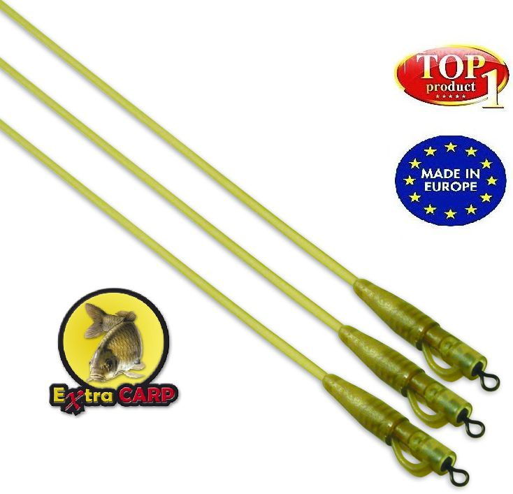 Safety bolt rig with camo tubing  Extra carp 3 ks