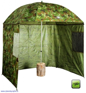 Deštník Giants fishing square camo umbrella 2,50 m