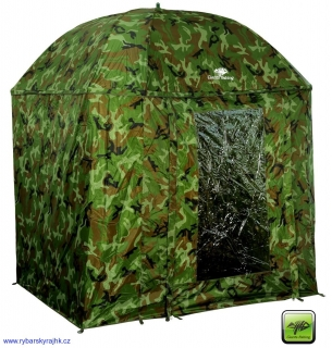 Deštník Giants fishing full cover square camo umbrella 2,50 m