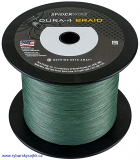 Spiderwire Dura-4 moss green 0,35 mm 35 kg metráž